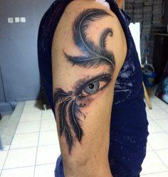 #coverup #eye #feather #tattoo #dovme #dovmesanati #dövme #tattooturkiye  #tatto…