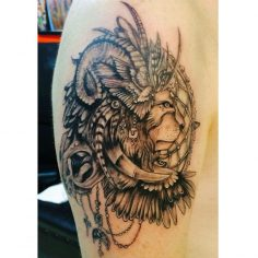 #illustration #tattoo #lion #eagle #wings #tattoo #dovme #dovmesanati #dövme #ta…